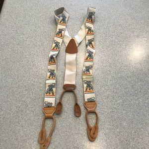 Trafalgar elephant print braces suspenders